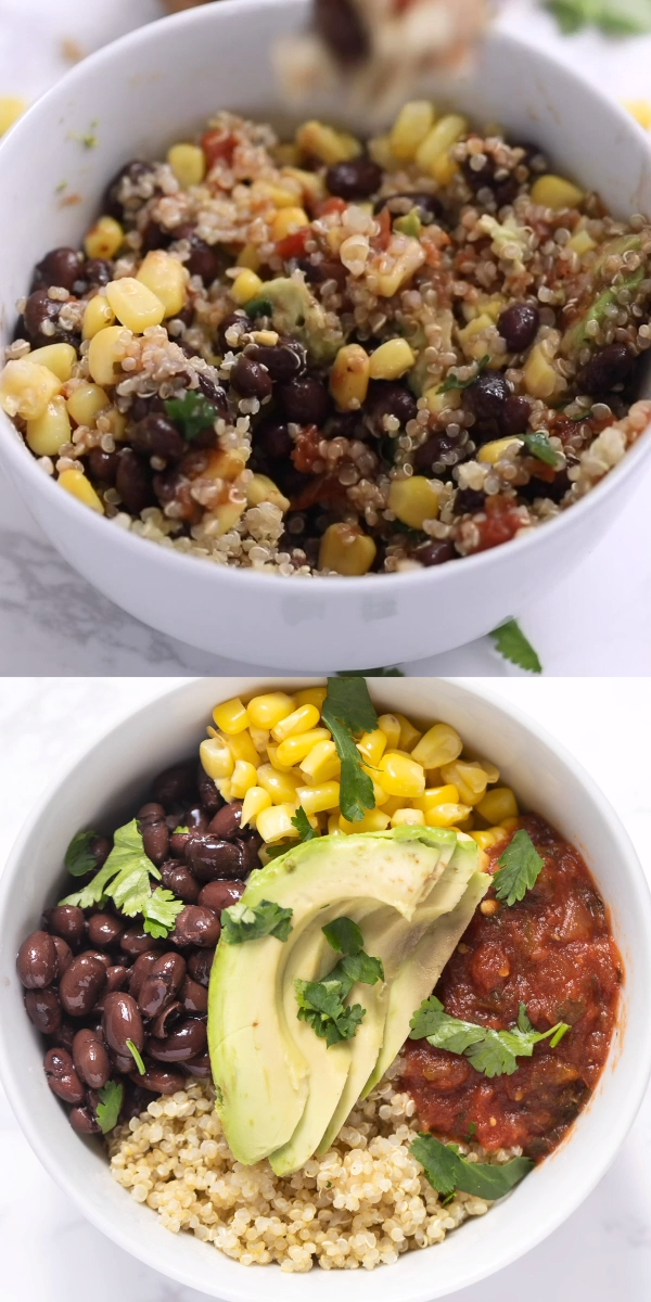 Vegan Mexican Quinoa Bowls #RePin by AT Social Med
