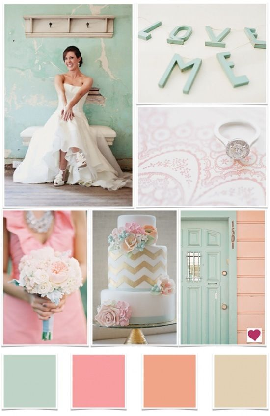 LOVE mint and blush colors ;)