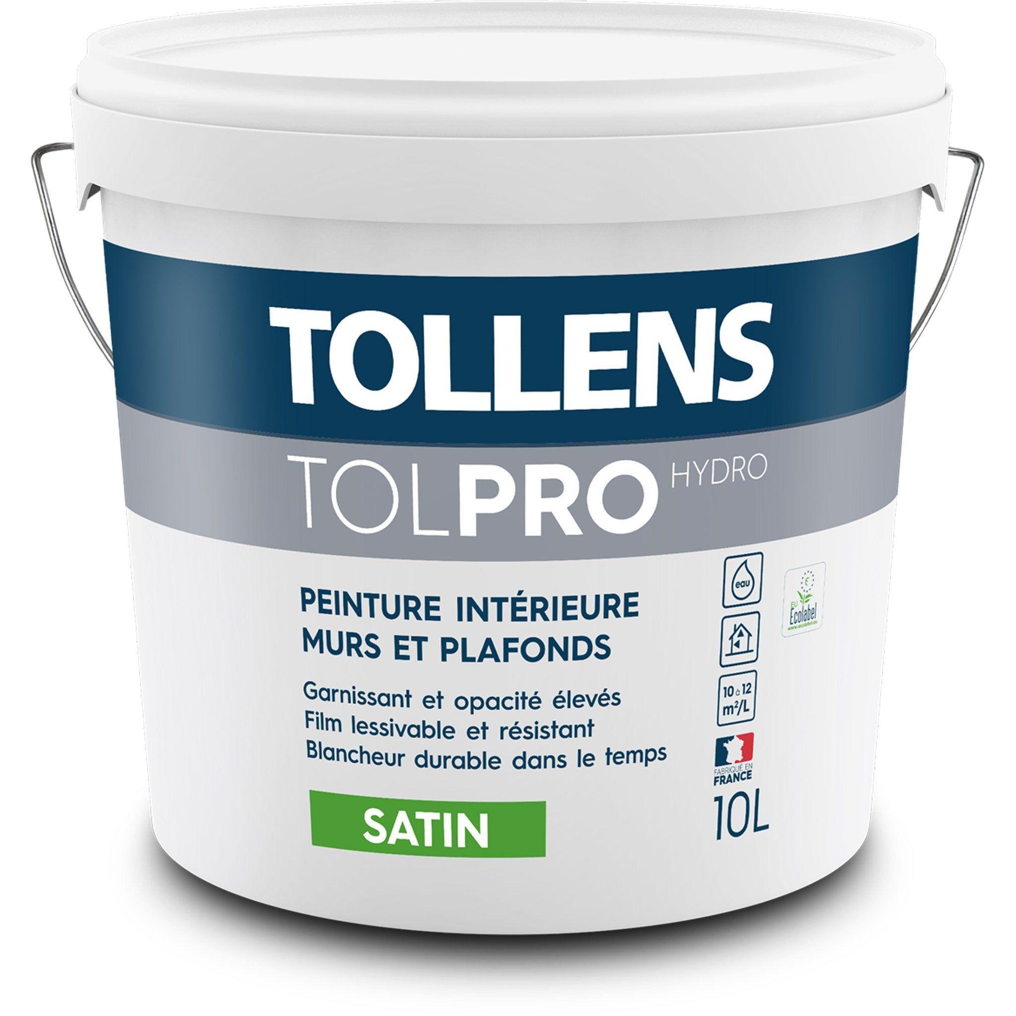 Peinture Tollens Mur Et Plafond Interieur Tolpro Hydro Blanc Satine 10 L Peinture Tollens Plafond Et Peinture