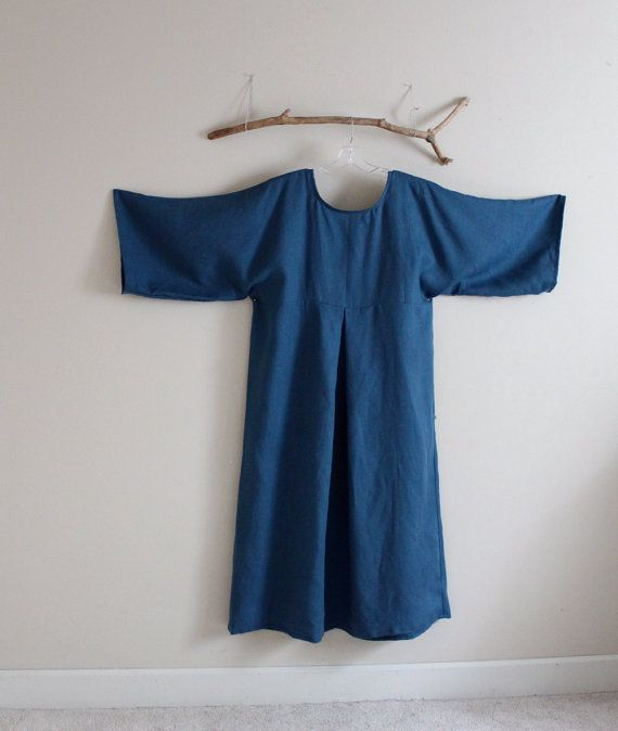 plus size kimono dolly linen dress by annyschooecoclothing on Etsy,