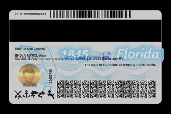 Florida Driver License Template Psd High Quality Driving License Template Drivers License Id Card Template Templates