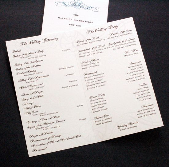 Don T Forget The Wedding Program Ceremony Party Proposal Story