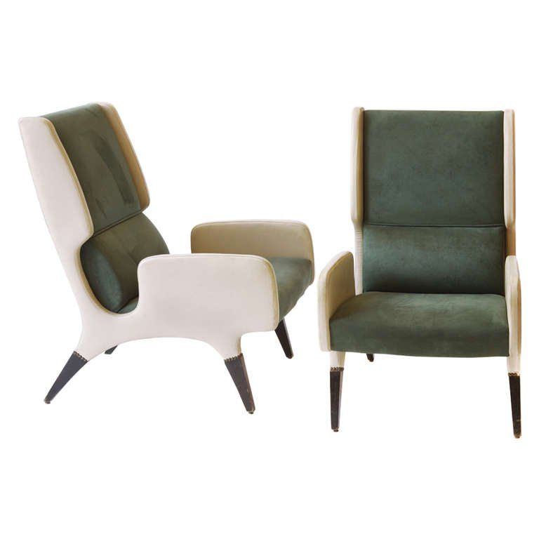 Rare Pair Of Gio Ponti Armchairs 866 By Cassina From Pdp Hotel