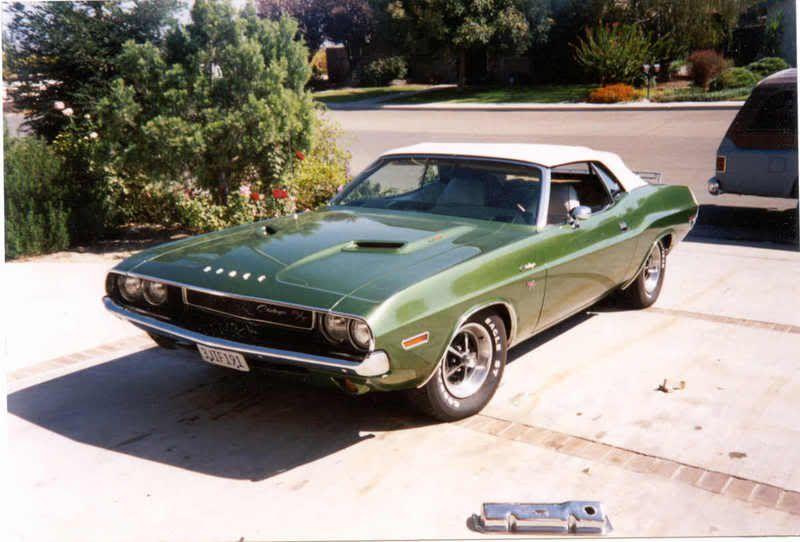 1970 Dodge Challenger Rt Convertible Ef8 Dark Green Metallic