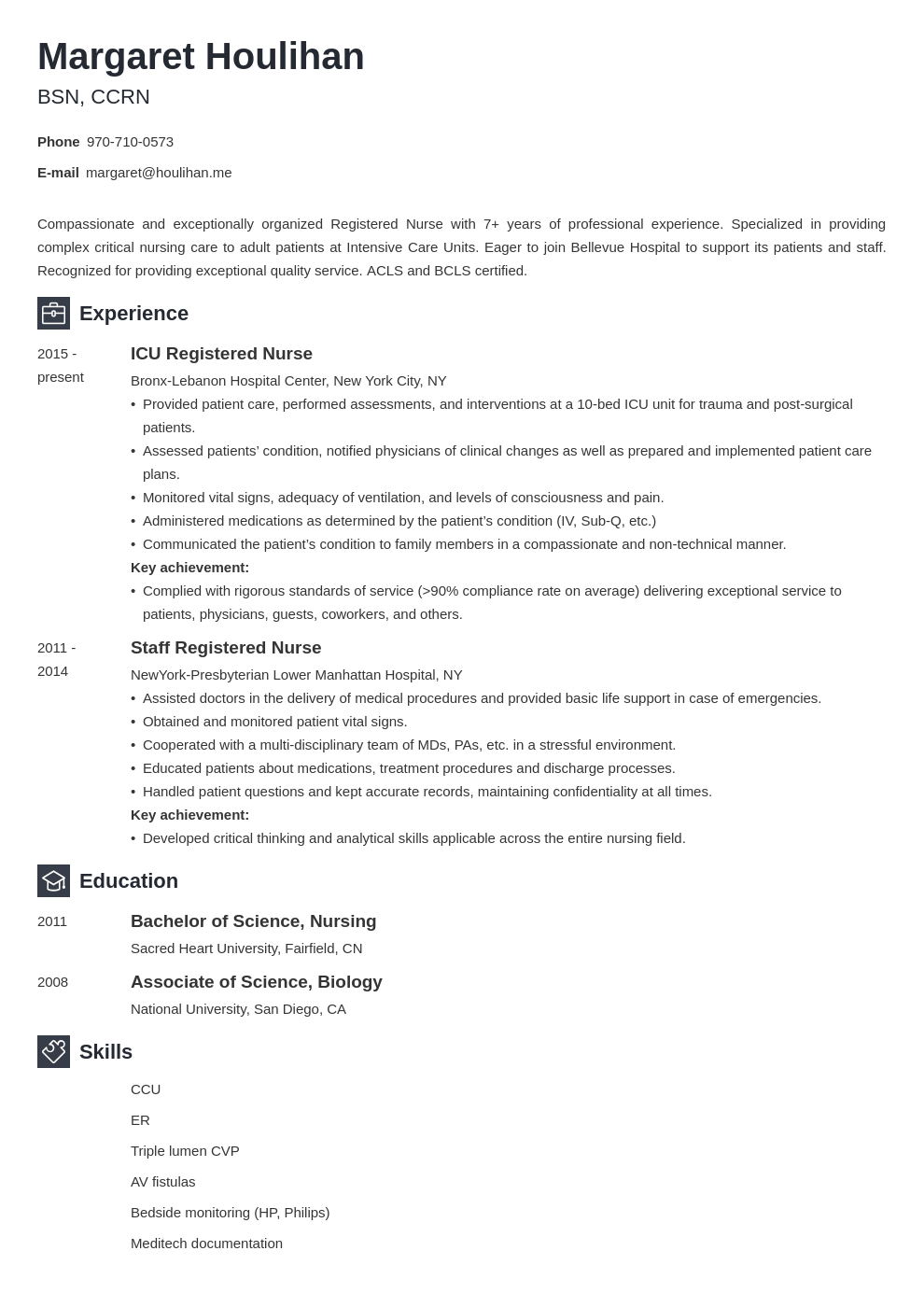 icu nurse resume example template newcast in 2020