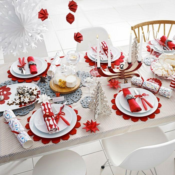 weihnachtliche tischdeko selbst gemacht 55 festliche tischdekoration ideen christmas. Black Bedroom Furniture Sets. Home Design Ideas