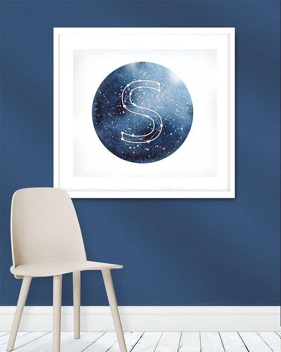 Watercolor Constellations Canvas Art Twinkle Twinkle Little One Wall Art