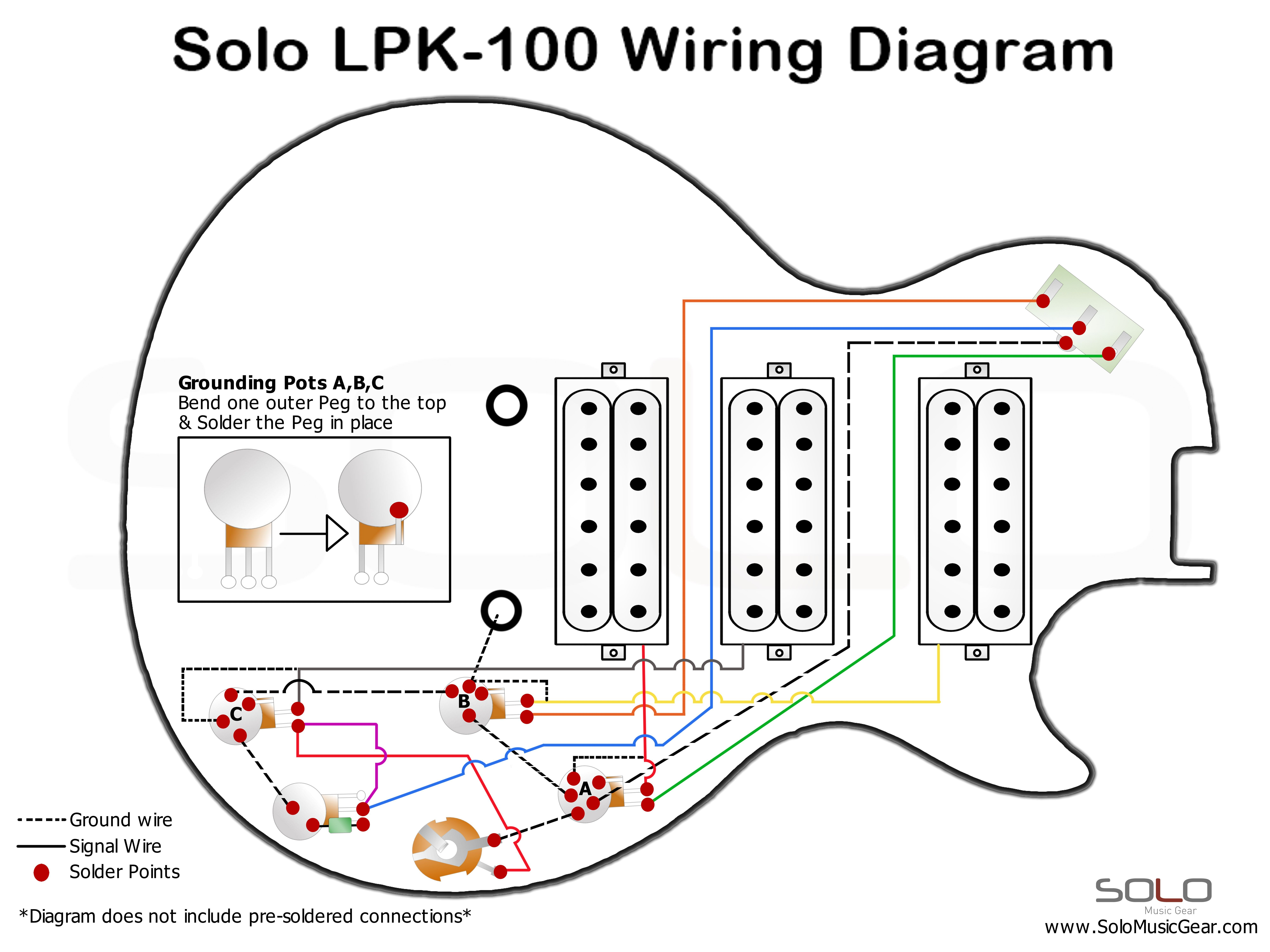 guitar 3 pickup wiring diagrams 2003 nissan xterra stereo diagram pin by solo music on pinterest wire and lp style kit for do it yourself