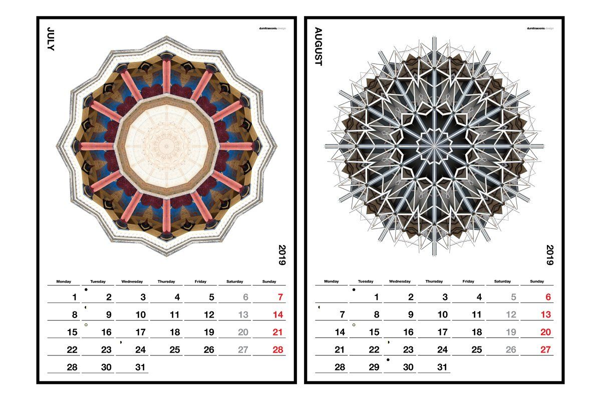 A3 Wall Calendar 2019 edition in 2020 Wall calendar