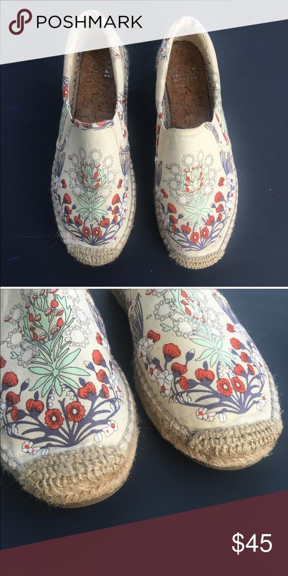 aaec9d436ea Gianni Bini Espadrilles Sz: 8 Gianni Bini floral, ivory espadrilles ...
