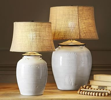 CFL Courtney Ceramic Small Table Lamp Base, Ivory | Table lamp ...