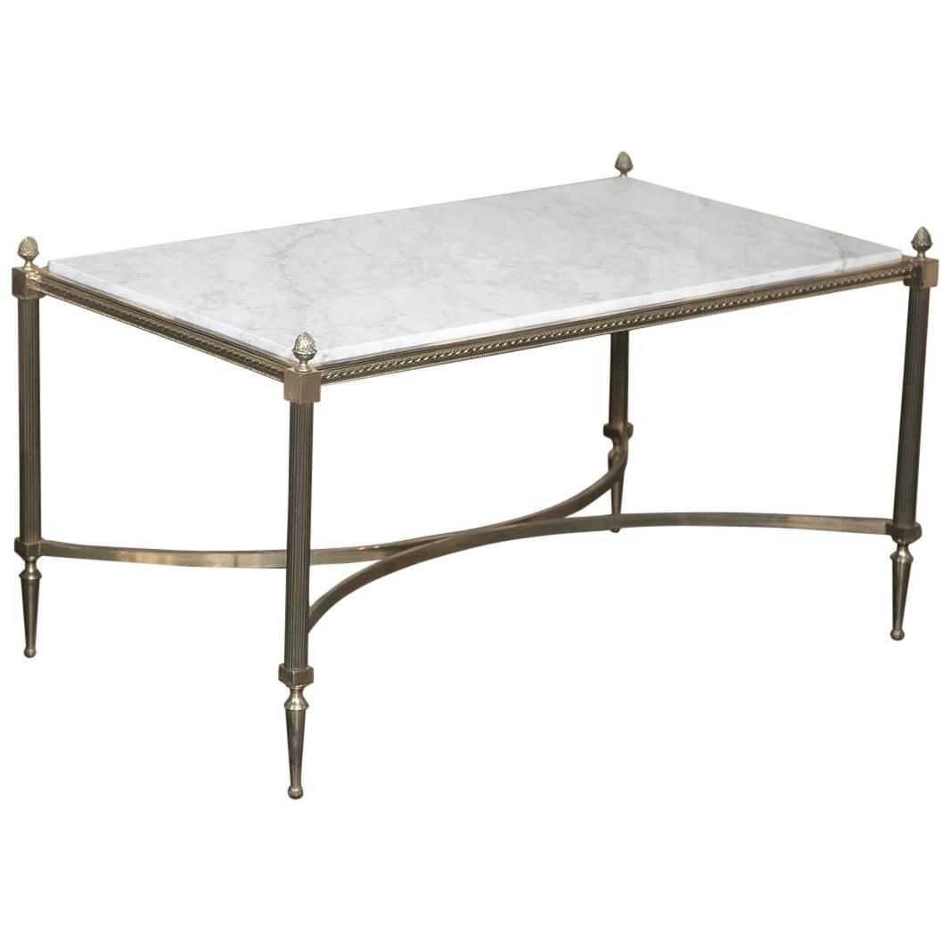 kelly brass top legs pin table melange marble with wearstler coffee burnished