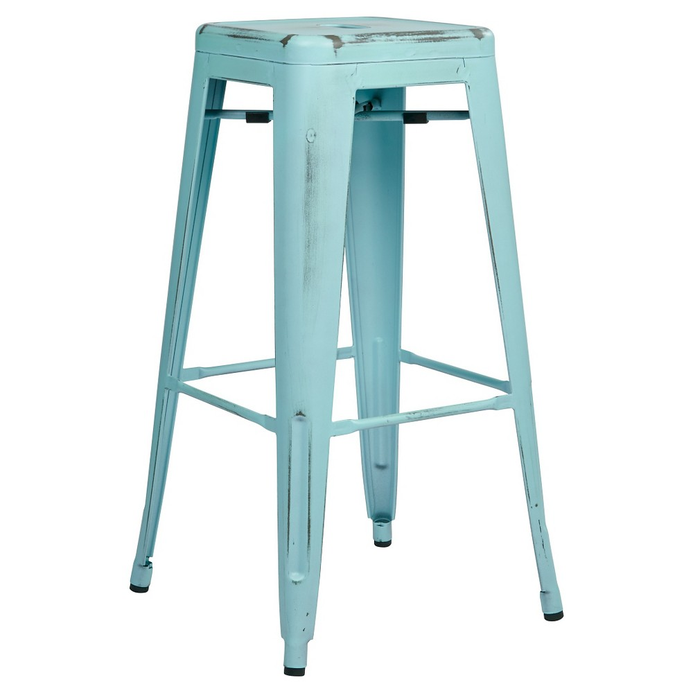 Swell Love The Distressed Blue Metal Retro Barstools Used These Dailytribune Chair Design For Home Dailytribuneorg