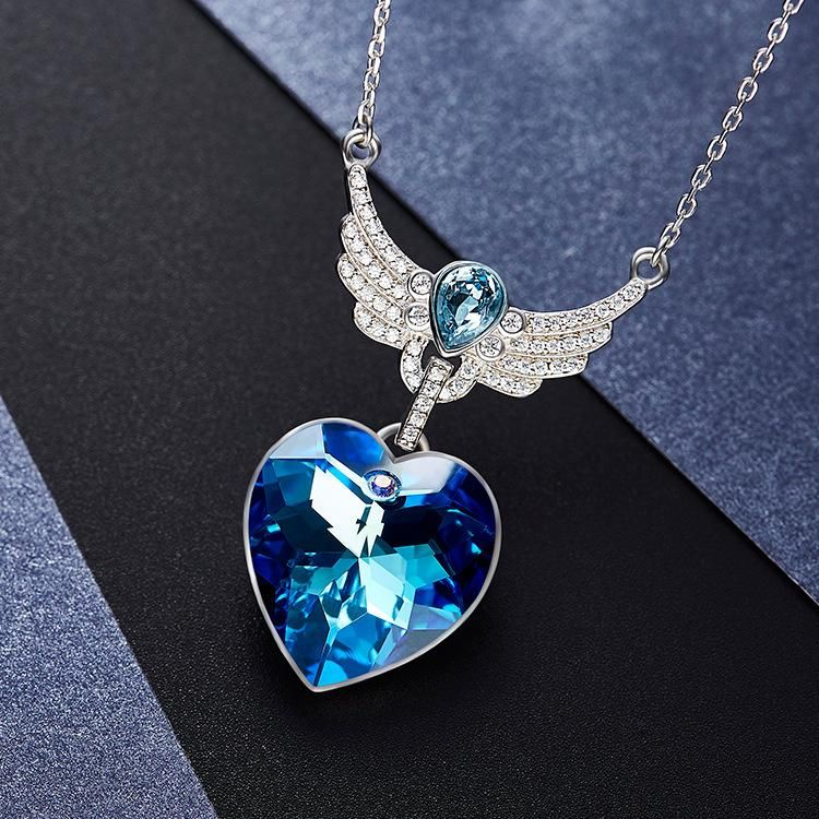 810a1f02a26 Blue Heart Crystal Necklace - Presents to Buy Your Girlfriend in ...