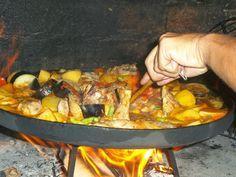 Comida campestre: Pollo al disco
