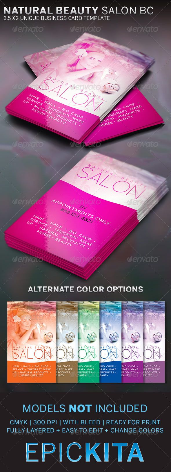 Beauty Salon And Spa Business Card Card Templates Business - Beauty salon business cards templates free