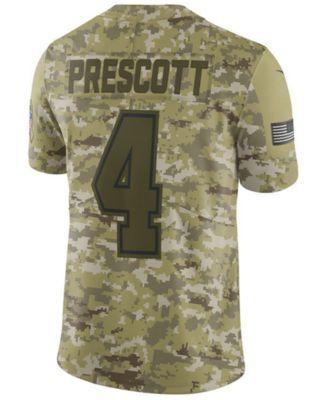 cheaper 292a2 52f95 Men's Dak Prescott Dallas Cowboys Salute To Service Jersey ...