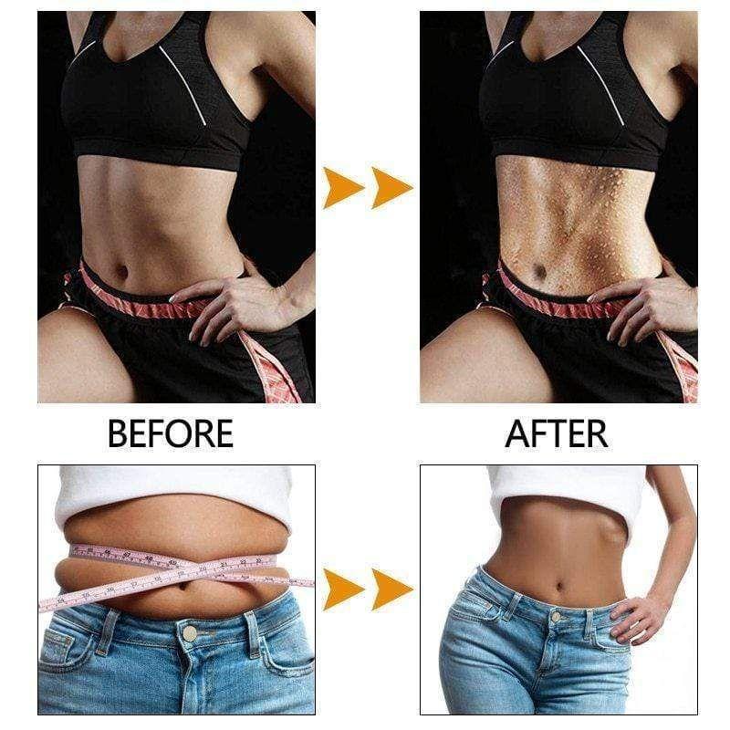 Magic Double Slimming Waist Sweat Belt - BLACK