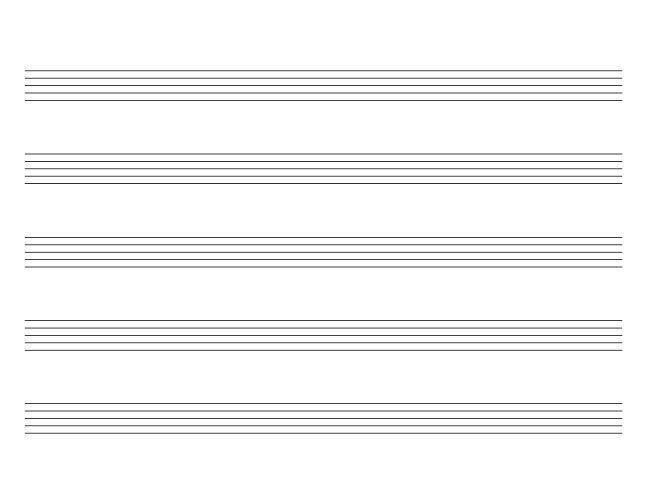 For Review in Music Theory Landscape orientation blank sheet music