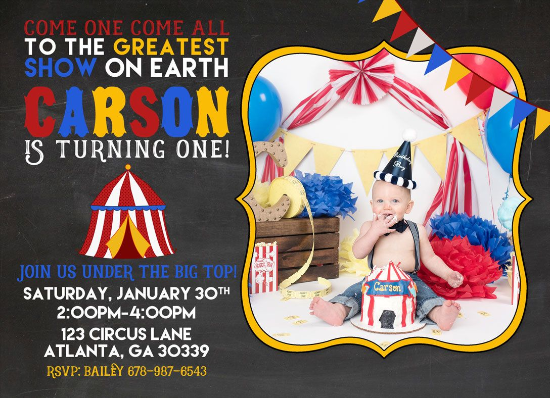 Printable Carnival or Circus Birthday Party Invitation