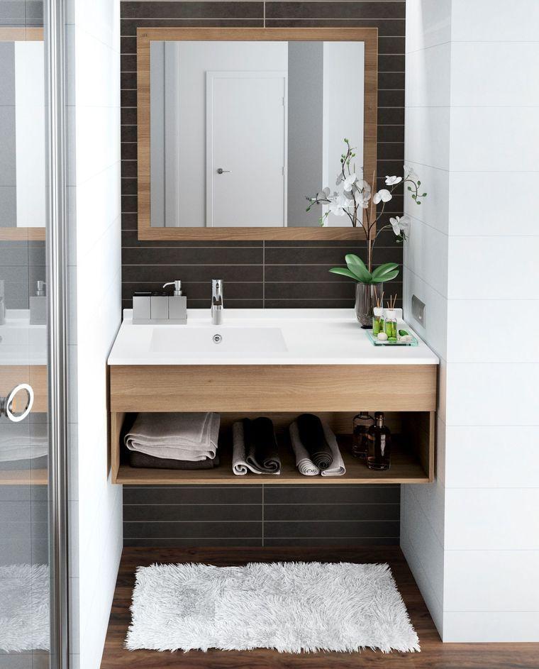 meuble salle bain bois design ikea lapeyre meuble. Black Bedroom Furniture Sets. Home Design Ideas