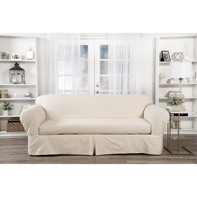 Darby Home Co Box Cushion Sofa Slipcover Reviews Wayfair Cushions On Sofa Slipcovered Sofa Slip Covers Couch