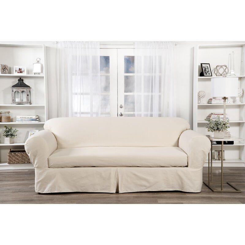 Box Cushion Sofa Slipcover In 2020 Slipcovered Sofa Cushions On