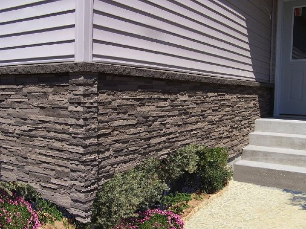NextStone - like the ledge at top of stone transitioning to siding