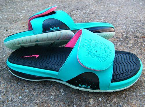 25e08fc9299f Nike lebron 9 south beach slide lebron air max sandals sb brand new ...