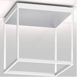 Photo of serien.lighting Reflex² Ceiling M 300 ceiling light white reflector pyramid structure silver Triac di