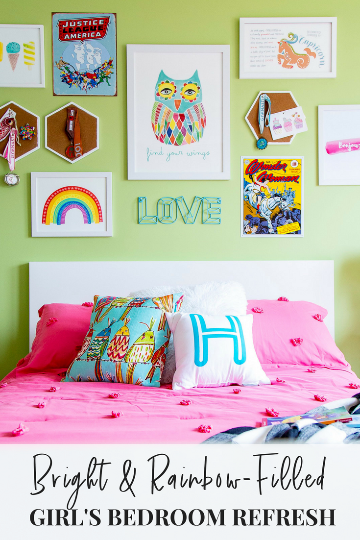 Obsessed with this fun and bright girl's bedroom idea!