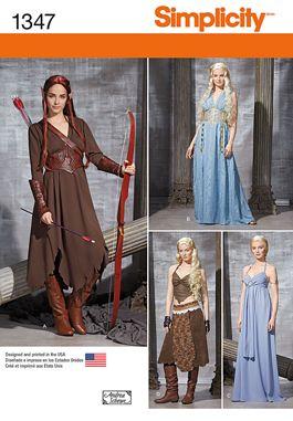 Simplicity Pattern 1347 Daenerys Targaryen Wedding Dress Game Of