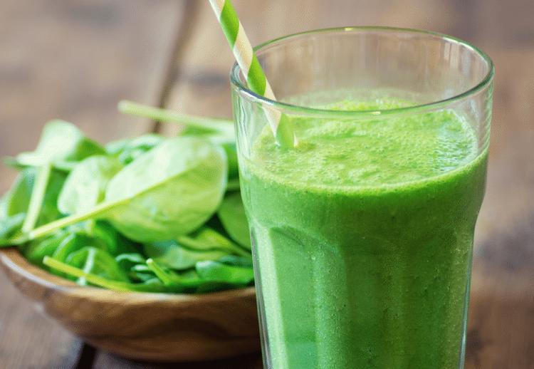 Green Smoothie  Serves: 1  Ingredients: 1 large stalk kale 1 stalk silver beet 3 large leaves Cos lettuce 1 cup spinach leaves 1/2 fresh lemon (juice) 1/2 small banana 1/2 green apple Handf…