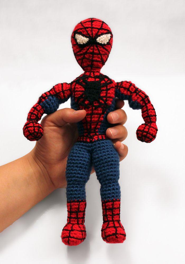 Spiderman Superhero amigurumi crochet pattern by Sahrit | haken ...