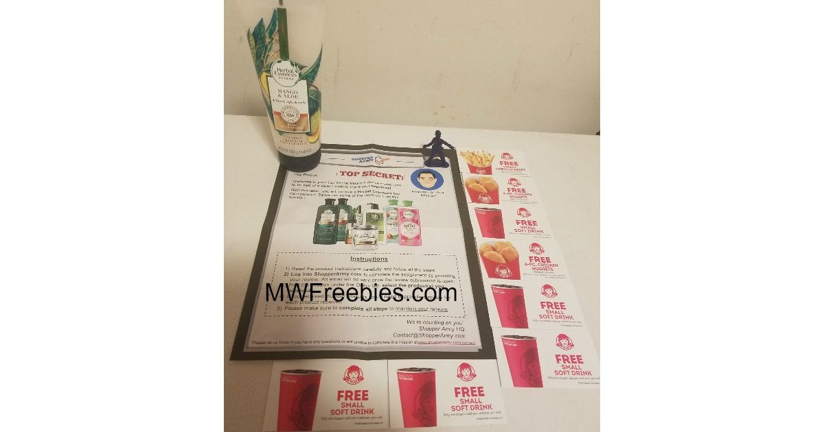 I received Herbal Essenses Curl Cream & Wendy's Coupons