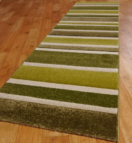 Sensitive Stripes Runners in Green and Cream