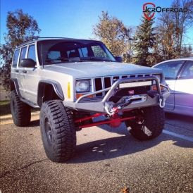 Jeep Cherokee Xj Front Prerunner Winch Bumper Jcroffroad Inc Jeep Xj Jeep Jeep Yj