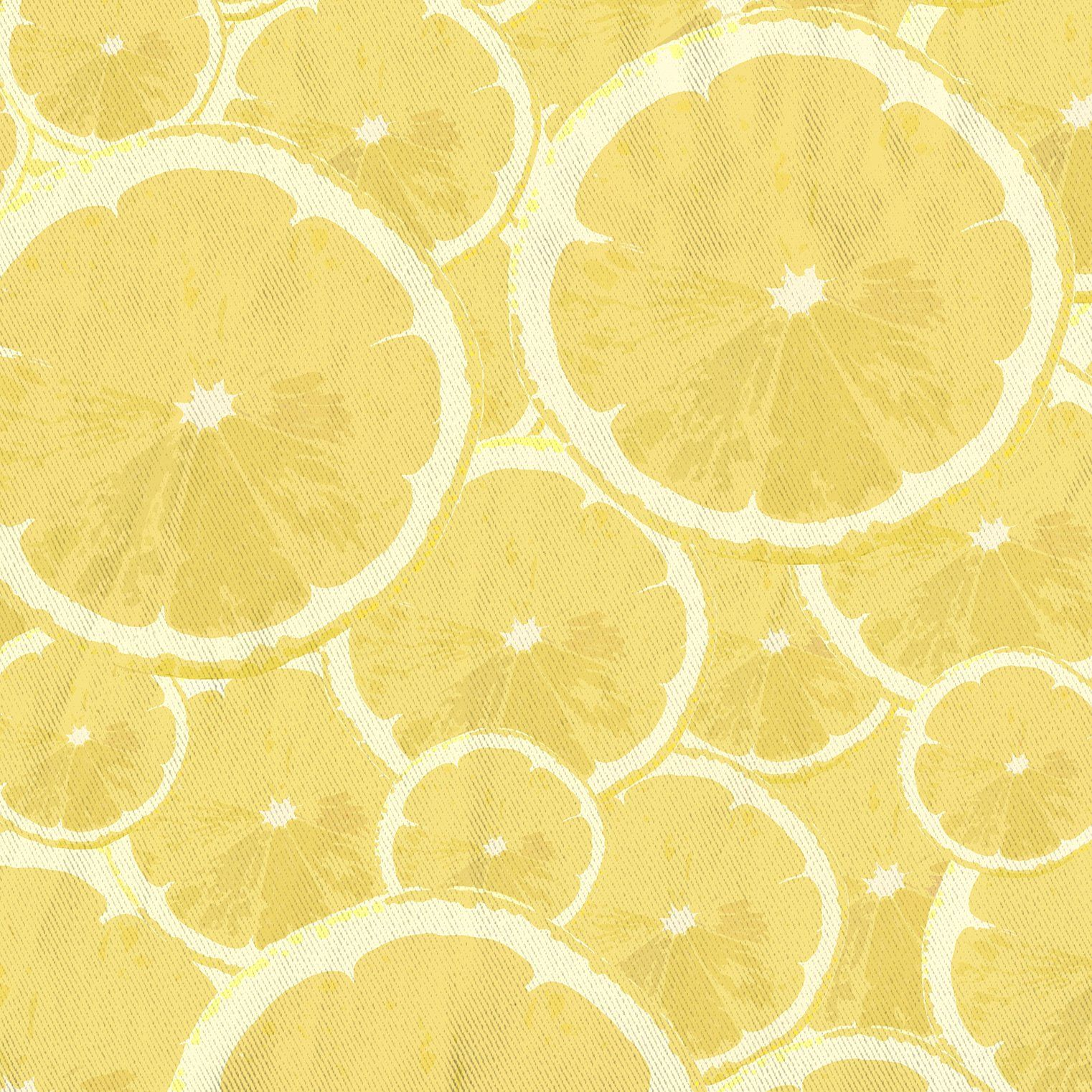 Photo of Lemons Forever Printed Yellow Fabric Shower Curtain – Small: 70 x 70 inches / 178 x 178cm
