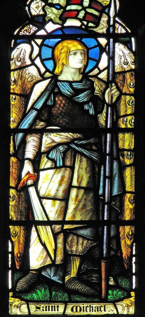 St Michael in battle array