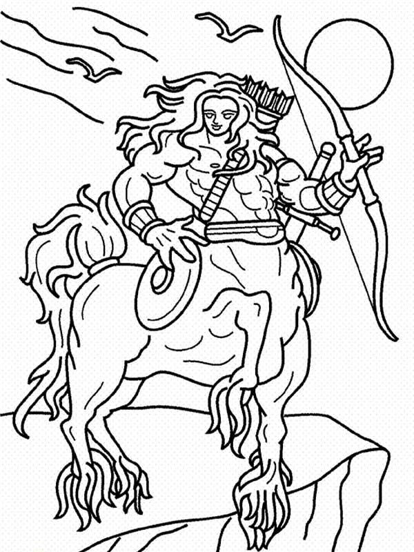 Pin By Zachary Froeschl On Characters Coloring Pages Centaur Coloring Pictures