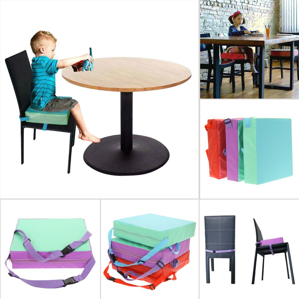 Portable Baby Kids Toddler Feeding High Chair Booster Seat Pad Dining Cushion Unbranded