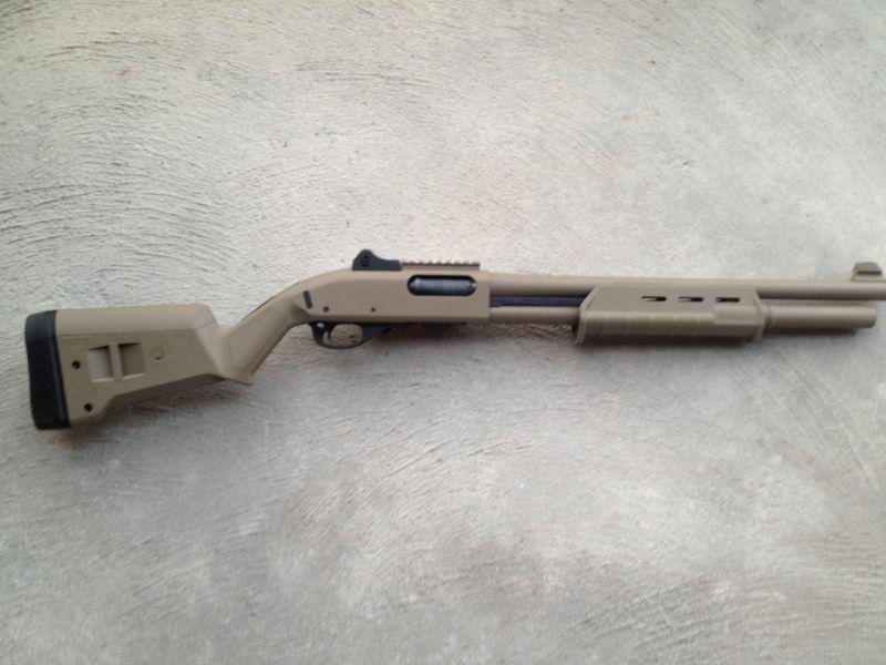 remington 870 tactical 12 gauge shotgun in fde flat dark earth with new magpul moe furniture