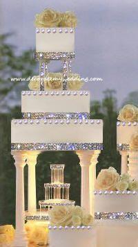 Fountain Wedding Cake Purple