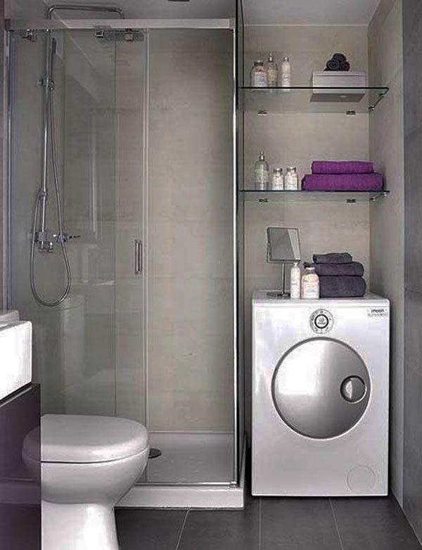Petite salle de bain  30 idées d\u0027aménagement Small bathroom - Salle De Bain Moderne Grise