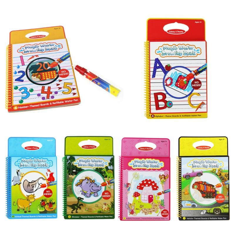 6 Farben Wasser Magischen Zeichnung Buch Färbung Bücher für Kinder ...