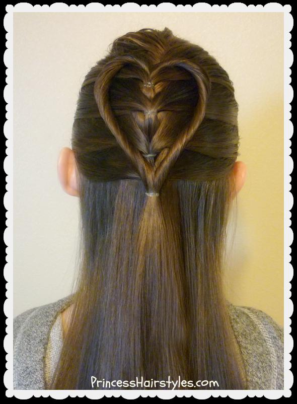 Elastic Braid Twist Heart Hairstyle Tutorial For Valentine S Valentines Hairstyles Heart Hair Kids Hairstyles
