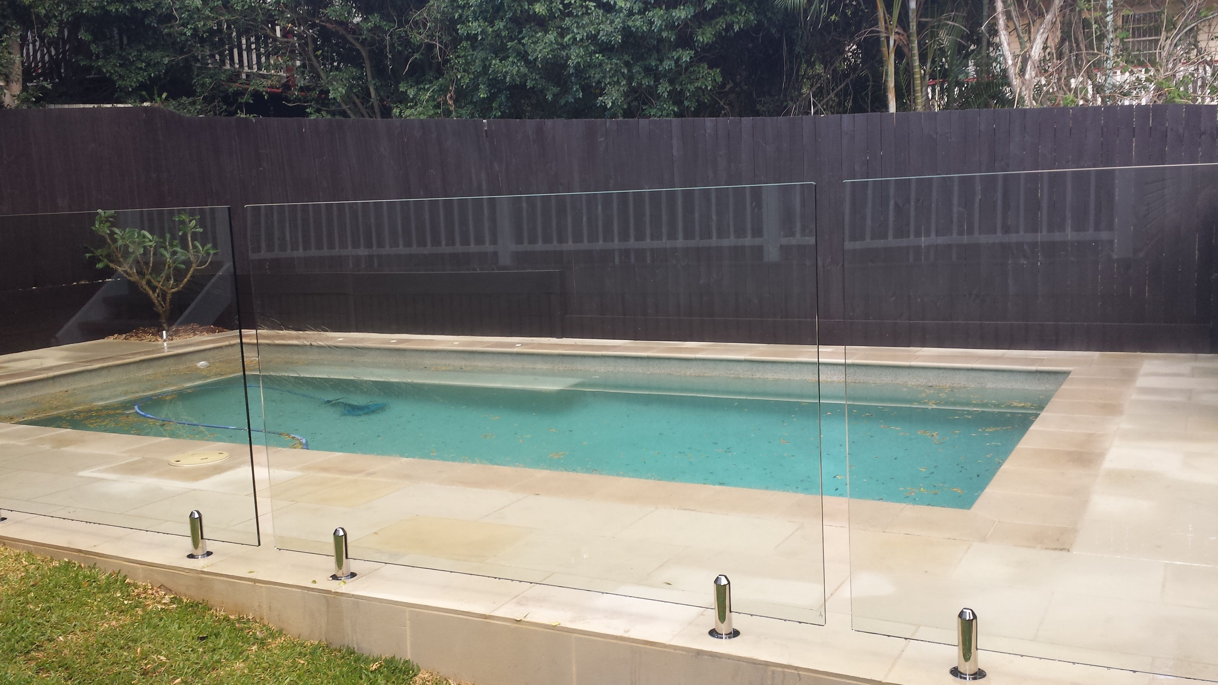 Sawn And Sandblasted Sandstone Paving And Coping Tile Around Pool