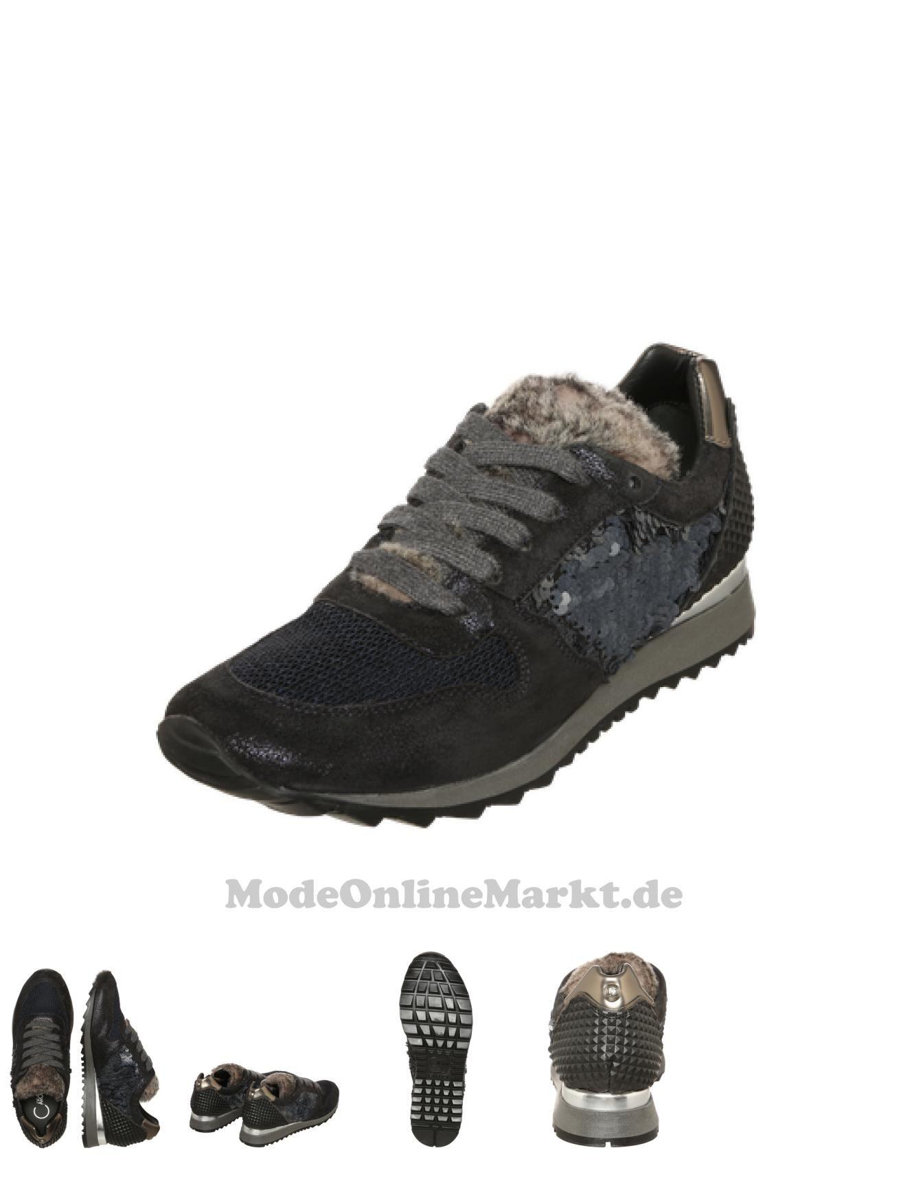 04054986204866    Donna  Carolina  Damen  Sneaker im  Metallic-Look  blau 764ef4b067
