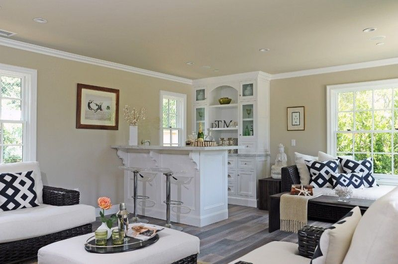 Home Bar Setup Transparent Adjustable Swivel Bar Stools Corner Home Bar  White Cabinet Large Window Flower