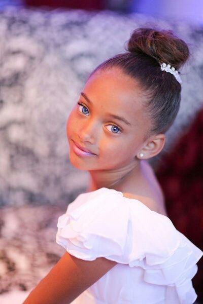 Her Blue Eyes Against Brown Skin Stunning Kids Hairstyles